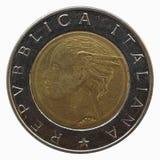 Italian 500 liras Royalty Free Stock Images