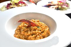 Lobster risotto Royalty Free Stock Images