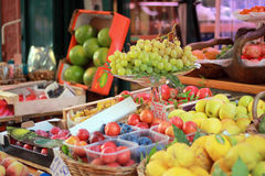 Italian  local fruit market. Italian local fruit market, liguria Stock Photography
