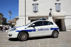 ITALIAN LOCAL POLICE Royalty Free Stock Photo