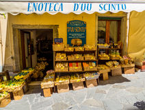 Italian local wine shop Royalty Free Stock Image