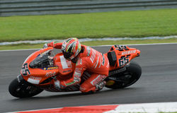 Italian Loris Capirossi Ducati Marlboro 2007 Polin Stock Photo