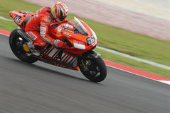 Italian Loris Capirossi Ducati Marlboro 2007 Polin Royalty Free Stock Photos
