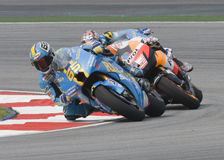 Italian Loris Capirossi of Rizla Suzuki Motogp Royalty Free Stock Images