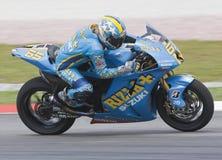 Italian Loris Capirossi of Rizla Suzuki Motogp Stock Images