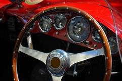 Italian luxury classic car interior Royalty Free Stock Photo