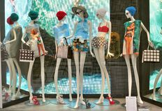 Italian luxury fashion shop in Florence Royalty Free Stock Image