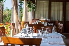 Italian luxury and quiet restaurant Royalty Free Stock Photography