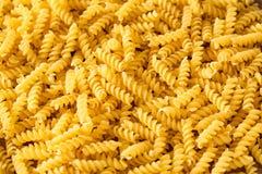 Italian Macaroni Pasta raw close up Stock Photography