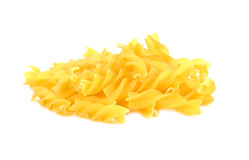 Italian Macaroni Pasta raw food on white background Royalty Free Stock Photo