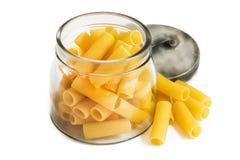 Italian macaroni on white background Royalty Free Stock Image