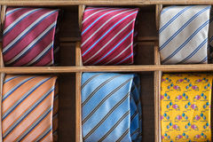 Italian made in italy silk tie on display Royalty Free Stock Images
