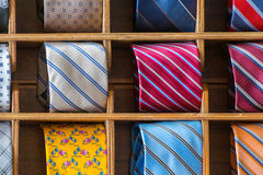 Italian made in italy silk tie on display Royalty Free Stock Image