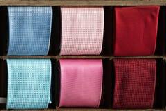 Italian made silk tie on display Stock Images