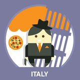 Italian Mafia Men in a Suit Vector Illustration Stock Photo