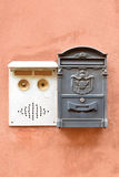 Italian mail box and door buzzer Royalty Free Stock Photo