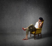 Italian man relax Stock Photo