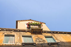 Italian mansion facade on background  sky Royalty Free Stock Photo