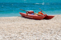 Italian manual watercraft lifeguard Royalty Free Stock Photo