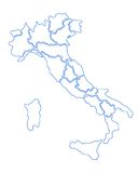 Italian map Royalty Free Stock Photo