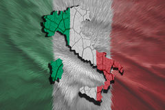Italian Map Royalty Free Stock Photography