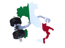 Italian map weight training Royalty Free Stock Photography