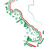 Italian map whit symbol Royalty Free Stock Images
