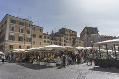 Italian market called field of flowers stock photos