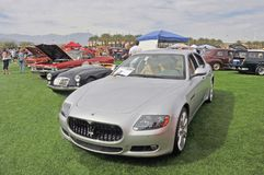 Italian Maserati Quattroporte Luxury Sedan stock photo