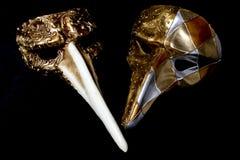 Italian Masquerade Masks on Black Background. Stunning Masquerade Masks on Black Background royalty free stock image