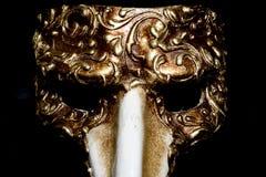Italian Masquerade Masks on Black Background. Stunning Masquerade Masks on Black Background stock photos