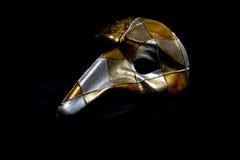 Italian Masquerade Masks on Black Background. Stunning Masquerade Masks on Black Background royalty free stock photography