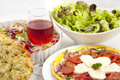 Italian meal Royalty Free Stock Photo