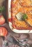 Italian meat lasagna Stock Images