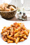 Italian meat sauce pasta Royalty Free Stock Photography