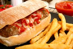 Italian Meatball Sandwich Stock Photos