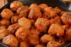 Italian meatballs closeup Royalty Free Stock Photos