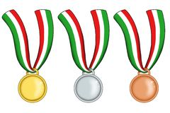 Italian medals Stock Image