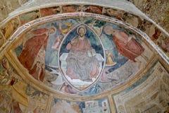 Italian medieval fresco Royalty Free Stock Image