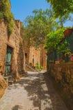 Italian medieval town of Civita di Bagnoregio. Stock Image