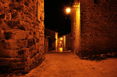Italian medieval village night view Royalty Free Stock Photos