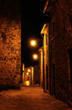 Italian medieval village night view 2 Royalty Free Stock Photos