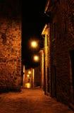 Italian medieval village night view 2 Royalty Free Stock Photos