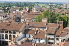 Italian medieval village roof shingle Royalty Free Stock Images