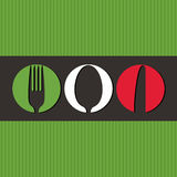 Italian menu design Stock Images