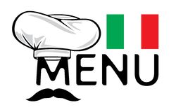 Italian menu design Royalty Free Stock Photos