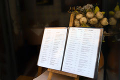 Italian Menu Royalty Free Stock Image
