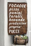 Italian menu' - puglia. A italian menu' - puglia, salento Stock Photography