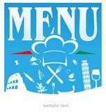 Italian menu Stock Photos