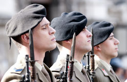 Italian military during a ceremony Royalty Free Stock Image
